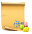 easter paper scroll vector image