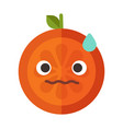 emoji - worry orange with drop of sweat isolated vector image vector image