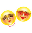 emoticons love vector image vector image