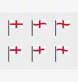 england flag symbols set national flag icons of vector image vector image