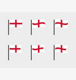 england flag symbols set national flag icons vector image vector image