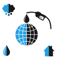 Environment pollution Oil industry vector image