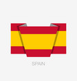 flag of spain without coat of arms flat icon vector image