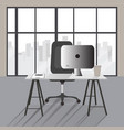 flat office concept workplace modern vector image