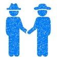 Gentleman Handshake Grainy Texture Icon vector image vector image