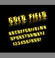 golden alphabet vector image