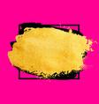 golden brush stroke banner watercolor vector image vector image
