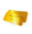 Golden tickets vector image