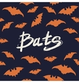 Halloween Seamless pattern with bats vector image