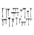 hand drawn paint splatter melt liquid leak ink vector image vector image