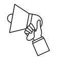 hand with megaphone sound isolated icon vector image vector image