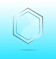 Hexagon abstract glass panel with copy space vector image