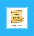 holidays best offer today vector image vector image