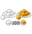 indian traditional sweets ladoo in plate vector image