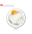 kogt torsk or boiled cod a popular dish in denmar vector image vector image