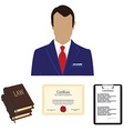 Lawyer consulting service vector image vector image