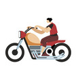 man driving motorcycle motorcyclist riding vector image vector image