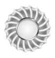 Metallic silver logo background vector image vector image