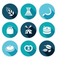 Mill and bread Icons Set vector image vector image