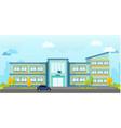 modern school building landscape vector image vector image