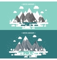 mountains in winter peak with snow nature vector image