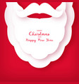 origami of the beard and mustache of santa claus vector image vector image