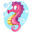pink fish color vector image vector image