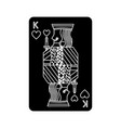 poker king of heart playing card vector image vector image