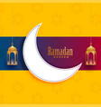ramadan kareem greeting decoration card design vector image