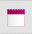 realistic calendar purple isolated object vector image vector image