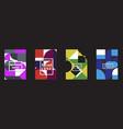 retro geometric covers design eps10 vector image vector image