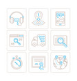 set of service or support icons and concepts in vector image vector image