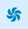 simple circle fan propeller symbol logo vector image vector image