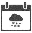 Snow Cloud Calendar Day Grainy Texture Icon vector image