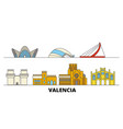 spain valencia flat landmarks vector image vector image