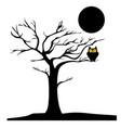 spooky tree vector image vector image