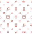 style icons pattern seamless white background vector image vector image