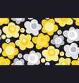 summer yellow color floral seamless pattern vector image