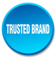 trusted brand blue round flat isolated push button vector image vector image