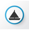 yacht icon symbol premium quality isolated vector image