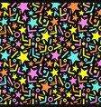 pattern with stars vector image