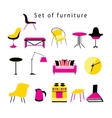 Different furniture and items in the home vector image