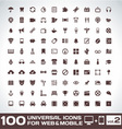 100 universal icons for web and mobile volume 2 vector | Price: 1 Credit (USD $1)