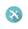 Airplane isolated round flat icon