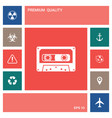 audio cassette icon elements for your design vector image vector image