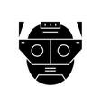 augmentation head black concept icon vector image