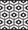 black and white mediterranean seamless tile vector image