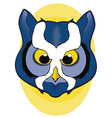 Blue Owl Face vector image vector image