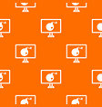 bomb on computer monitor pattern seamless vector image vector image