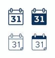 calendar web icons day date agenda calendar vector image